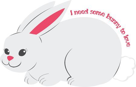 cottontail: Los ni�os les encanta un conejo difusa.