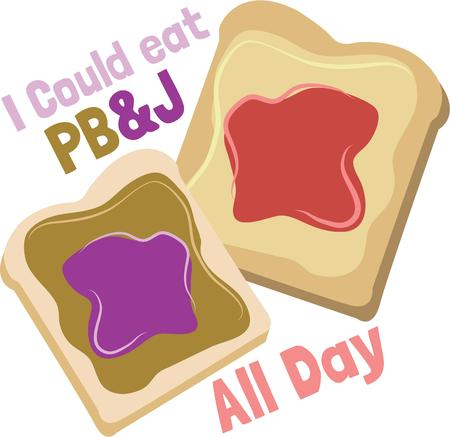 pb: A kitchen towel will look great with this food design. Illustration