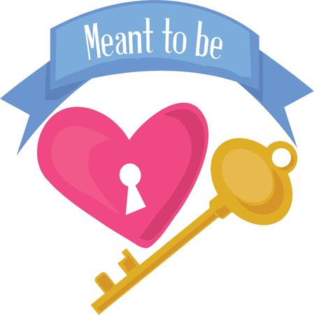 meant to be: Who holds the key to your heart  Use this big blue banner to display that special message!