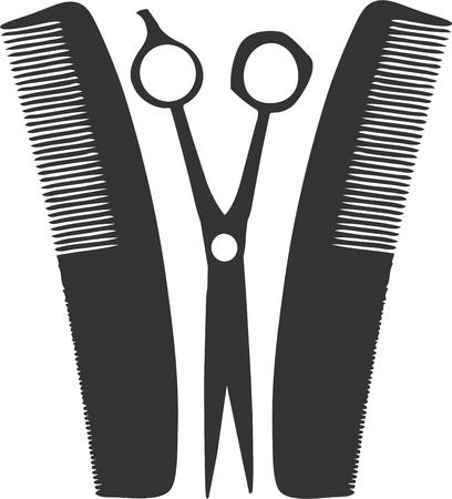 combs: No barber can be without their scissors and combs.  This is a great graphic to decorate barber shop capes.