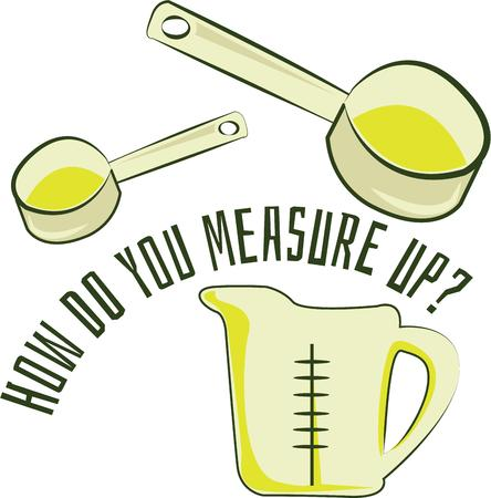 measuring spoon: Spice up your kitchen decor and chefs apparel with this design on kitchen linen, chef coats, apron and hats. Illustration