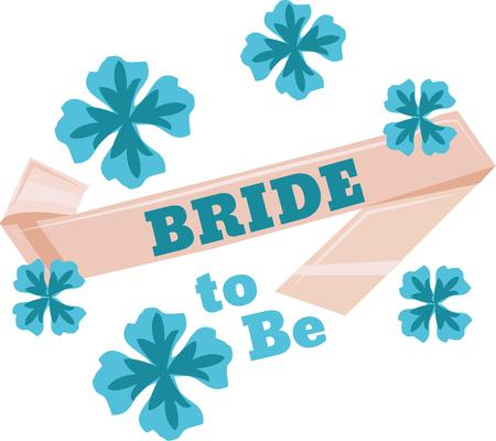 riband: Turn this simple design into a style statement.  The design will add sparkle to bridal shower projects.