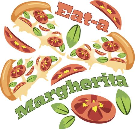 margherita: The smell of fresh baked pizza is the most enticing aroma on the planet.  Get this appetizing design on your home projects!