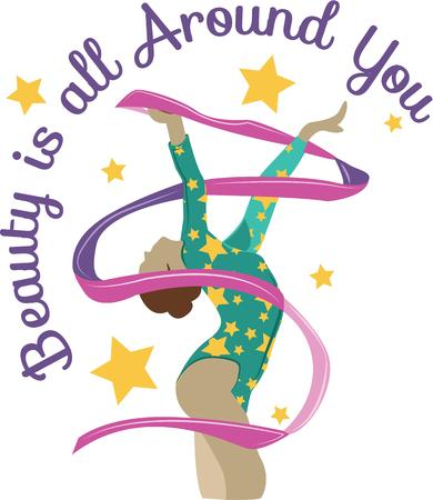 beat the competition: Looking for the perfect Birthday or Christmas gift Embroider this design on clothes, towels, pillows, gym bags, quilts, t-shirts, jackets or wall hangings for your gymnast!