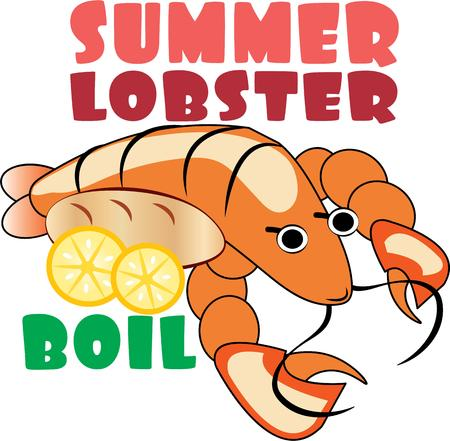 langouste: This magnificent lobster is ready to swim onto towels, beach totes, t-shirts, quilts and more!