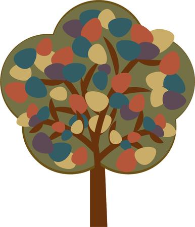 woodsy: Bring woodsy appeal to your home projects with this tree design!