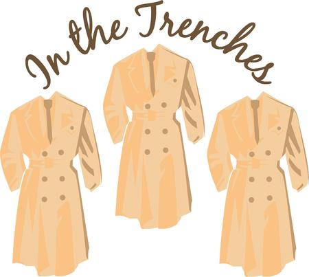 strictly: Accessorize to your hearts desire.  Get this trench coat on your indoor projects and add personality to your style!