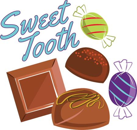 sweet tooth: This design is perfect for anyone with a sweet tooth. Indulge without any guilt with this design on your indoor projects! Illustration