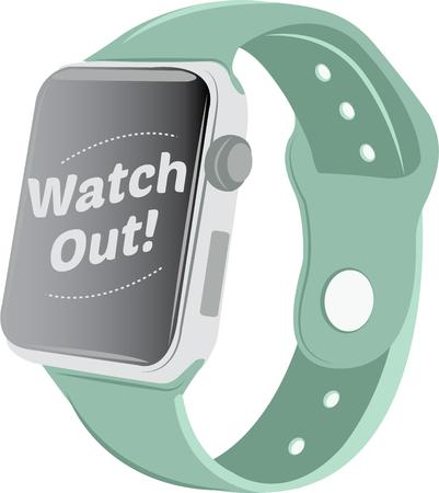 watch out: This smart watch design in appealing to more than just gadget geeks.  This design is perfect on framed embroidery, t-shirts and sweatshirts! Illustration