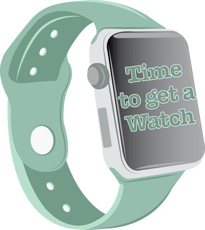 appealing: This smart watch design in appealing to more than just gadget geeks.  This design is perfect on framed embroidery, t-shirts and sweatshirts! Illustration