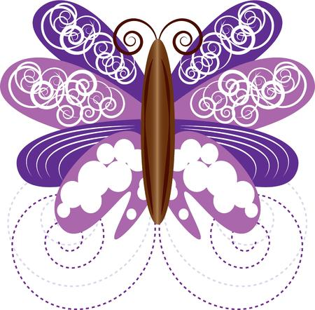 zauberhaft: Erstellen show-stopping Jacken, Tischl�ufer, und Zubeh�r mit diesem bezaubernden Schmetterlingsentwurf! Illustration