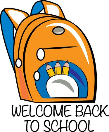 back packs: Kick off the school year with this adorable backpack design on pencil bags, back packs, t-shirts and more!