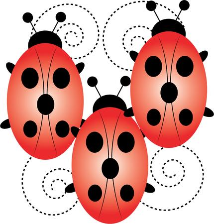versatile: Ladybug lovers will enjoy this versatile and fun design that offers endless possibilities on any project. Illustration
