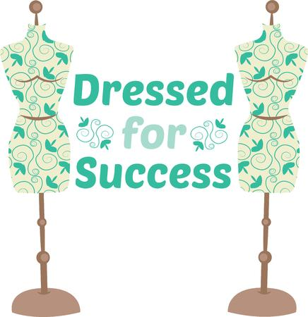 dress form: Looking for a light, elegant crafty design This dress form is the perfect fit and perfect for projects for your favorite seamstress! Vectores