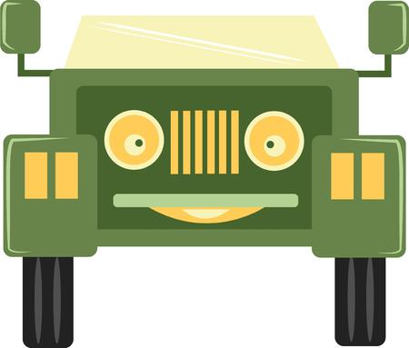 satisfy: The classic truck will satisfy vehicle-lovers of any age!  Make a perfect every time on T-shirts, sweatshirts. Illustration