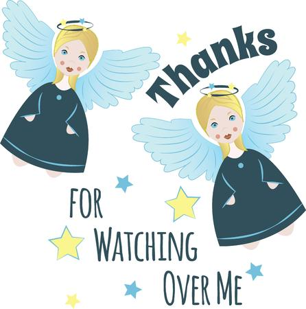 sweatshirts: Embroider your personal angel for every occasion, with this design on sweaters, sweatshirts and more. Illustration