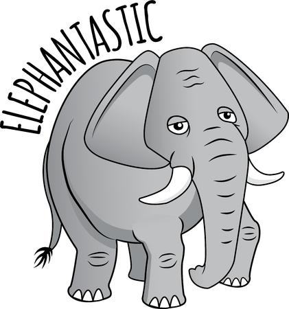 pachyderm: This majestic pachyderm will make a stunning addition to any home decor or as a perfect gift for the wildlife lover! Illustration