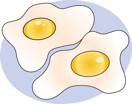 sunny side up eggs: Keep your weekday mornings interesting with this hot, delicious breakfast standby with this design on tablecloths, kitchen linen, napkins and more!