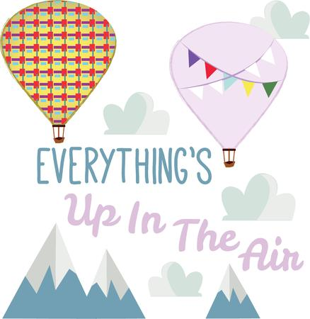adventurer: Up, up and away! Take off!  This cute little design will be perfect for your little adventurer on t-shirts, hoodies, hats, warm-ups and more! Illustration