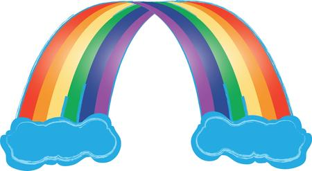 end of rainbow: Follow the leprechaun to the pot of gold at the end of the rainbow.  Feel  lucky with this design on your St. Paddys day projects! Illustration
