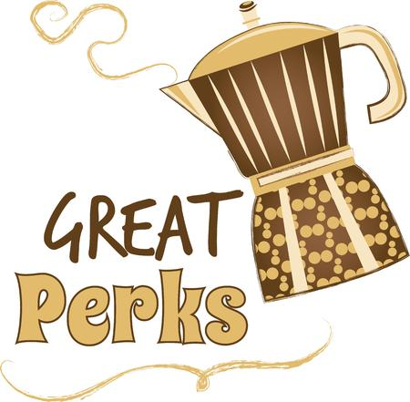 perks: Get this daily grind on a project for your coffee lover!  Its a perfect pick-me-up for your home projects as well.