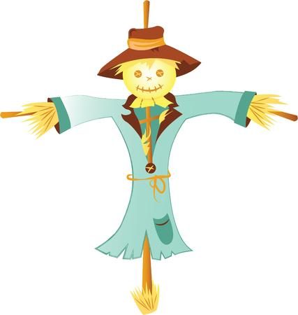 autumn scarecrow: Prepare to have a hauntingly delightful Halloween with this design on t-shirts, hoodies, hats, warm-ups and more for the little ones!