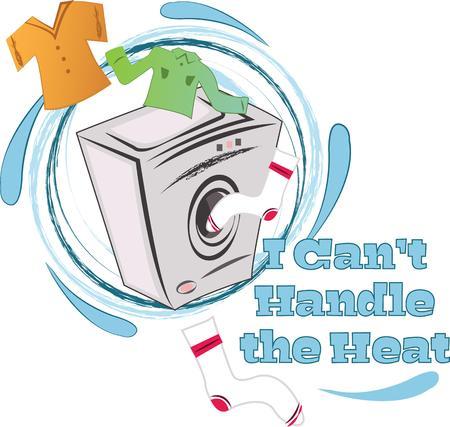 cargador frontal: Personaliza tu ropa y hacerla m�s f�cil de detectar con este dise�o en bolsas de lavander�a, tapices de una lavander�a o en el hogar proyectos! Vectores