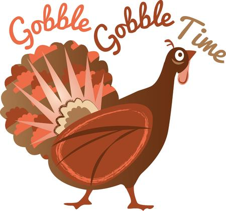 gobbler: Is your table ready for turkey dinner This festive design is perfect on gifts, table runners, kitchen linens, home decor and on all things Thanksgiving!