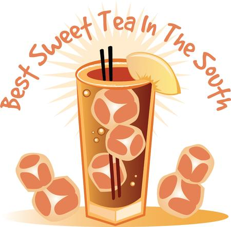 steamy: Nothing like a cup of iced tea to start your day!  This colorful design will be hot and steamy on cozies, kitchen towels and more.