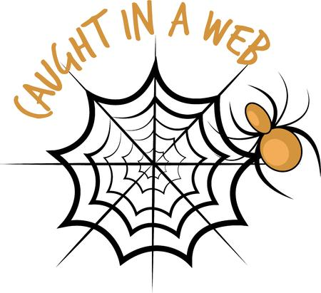 creepy crawly: Trick or Treat! Set a spooky mood with this creepy crawly spider design on t-shirts, hoodies, hats, warm-ups and more!