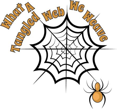 black widow: Trick or Treat! Set a spooky mood with this creepy crawly spider design on t-shirts, hoodies, hats, warm-ups and more!