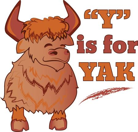 yak: This yak will make a stunning addition to any home decor or as a perfect gift for the wildlife lover! Illustration