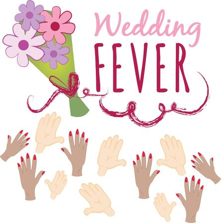 toss: The bouquet toss is an important time at the wedding.  Add this to a pretty handkerchief for all the single ladies to remember your wedding.