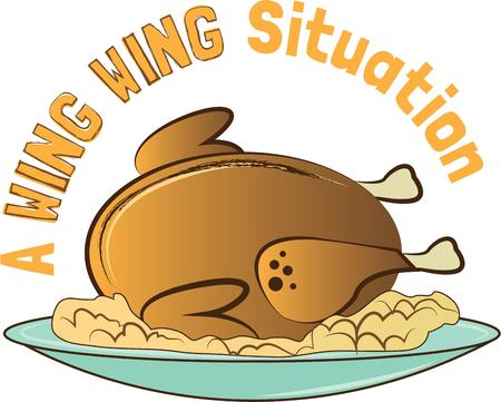 feature: The turkey is the feature on the table for Thanksgiving.  Add this design to napkins for the table.