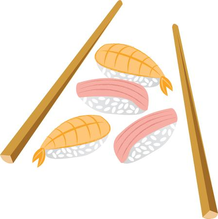 chop stick: Promote your sushi diner with this on your apron.