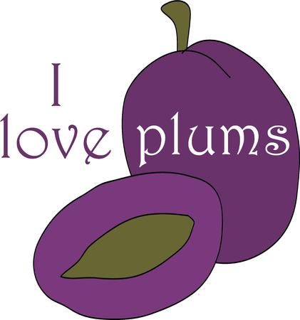 prune: Create a splendid look for the summer with tasty plums on place mats and linens!