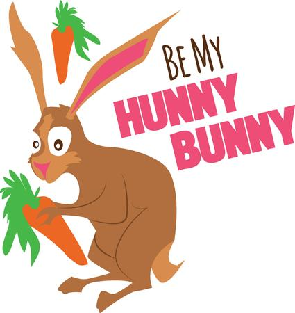 hunny: Cute and fluffy bunny is ready for all the festivities! This design will be fabulous on all your Easter projects!