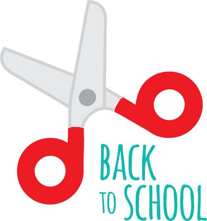 snip: Always a back to school staple, this design is perfect on pencil bags, back packs, t-shirts and more! Illustration