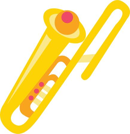 brass band: Listen to foot tapping music.  This pitch perfect music note design will be great on projects for your music lover. Illustration