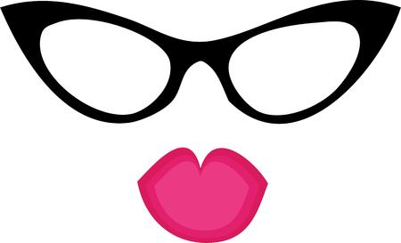 eye wear: Accessorize to your hearts desire.  Get this fabulous yet functional design on your indoor projects and add personality to your style. Illustration