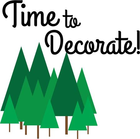 tannenbaum: Deck the halls and the rest of your home in Christmas cheer with this design on your holiday projects.