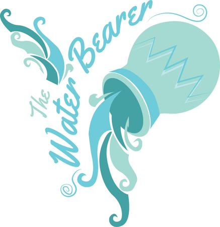 water bearer: Aquarians are the perfect representatives for the Age of Aquarius.  Craft a gift for every birthday of this air sign with this design.