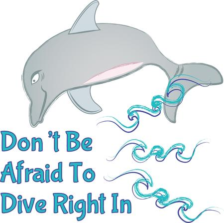 cetacean: Send this cute dolphin to a child or child at heart.  They will love it! Illustration