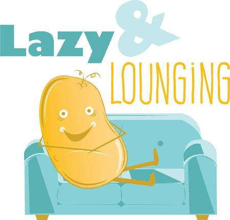 tuber: Ready for the weekend  The couch is waiting for the potato.  Buy this for a shirt for the couch potato!