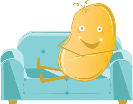 couch potato: Ready for the weekend  The couch is waiting for the potato.  Buy this for a shirt for the couch potato!