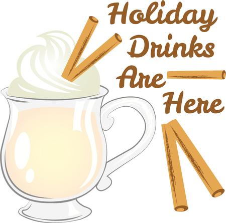eggnog: Eggnog is the perfect wintertime drink.  Add this to towels and place mats for your Christmas theme.