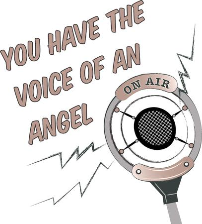 announcer: This microphone is perfect for the radio announcer.  Add to a shirt or hat just for them.