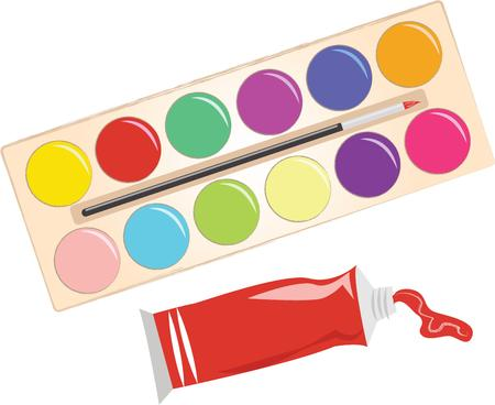 palate: Kids love to paint and add color to paper.  Add this design to their painting apron.  They will love it.