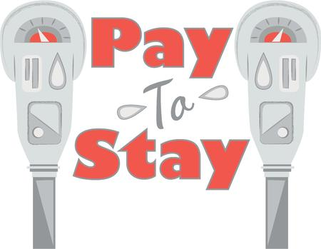 forgot: Send a reminder to someone who forgot to pay the parking meter with this design on a shirt or hat. Illustration