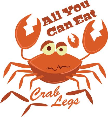 legged: These ten legged swimmers are the most heavily harvested crustaceans on the planet! Save the crabs with this design on kitchen linen, tablecloth and more!